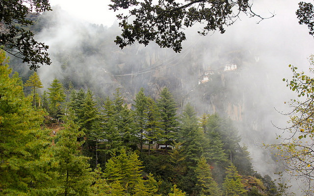 Paro Taktsang distance view